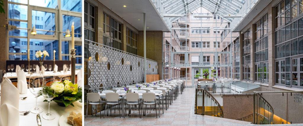 Holberg Terrasse byr på flotte, lyse selskapslokaler