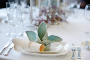 Oppdekking til selskap. Bilde til menyer for Eurest Konferanse & Selskap