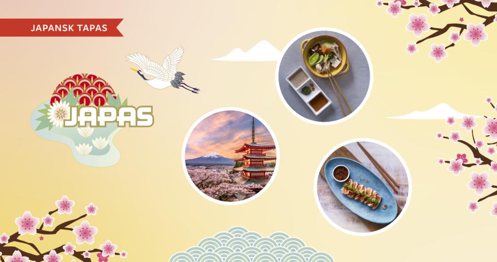Compass Group sin Japas-logo, bilder av japanske delikatesser