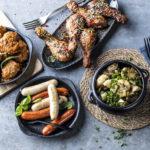 Tapasboller, chorizopølse, kyllinglklubber og portebellosopp