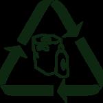 Illustrasjon av resirkuleringsmerke for plast
