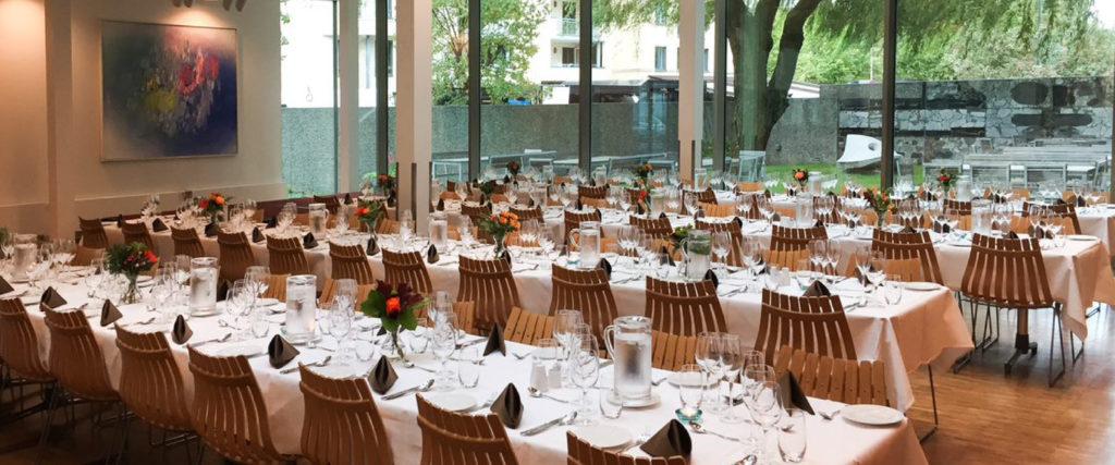 NHO Møtesenter - selskapslokaler pyntet til fest